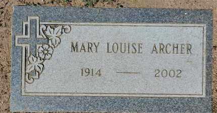 ARCHER, MARY LOUISE - Yavapai County, Arizona | MARY LOUISE ARCHER - Arizona Gravestone Photos