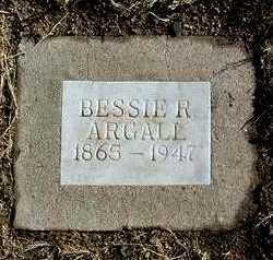 ARGALL, BESSIE R. - Yavapai County, Arizona   BESSIE R. ARGALL - Arizona Gravestone Photos