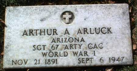 ARLUCK, ARTHUR A. - Yavapai County, Arizona | ARTHUR A. ARLUCK - Arizona Gravestone Photos