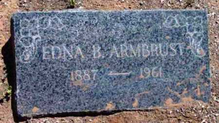ARMBRUST, EDNA BROWNING - Yavapai County, Arizona | EDNA BROWNING ARMBRUST - Arizona Gravestone Photos