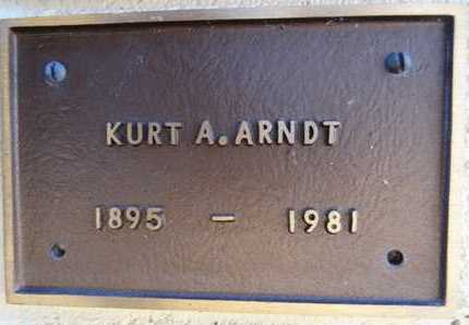 ARNDT, KURT A. - Yavapai County, Arizona | KURT A. ARNDT - Arizona Gravestone Photos