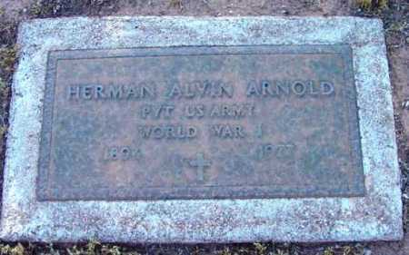 ARNOLD, HERMAN ALVIN - Yavapai County, Arizona | HERMAN ALVIN ARNOLD - Arizona Gravestone Photos