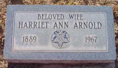 ARNOLD, HARRIET ANN - Yavapai County, Arizona | HARRIET ANN ARNOLD - Arizona Gravestone Photos