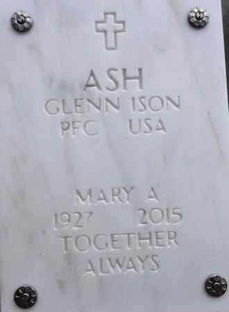 ASH, GLENN ISON - Yavapai County, Arizona | GLENN ISON ASH - Arizona Gravestone Photos