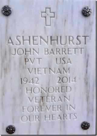 ASHENHURST, JOHN BARRETT - Yavapai County, Arizona   JOHN BARRETT ASHENHURST - Arizona Gravestone Photos
