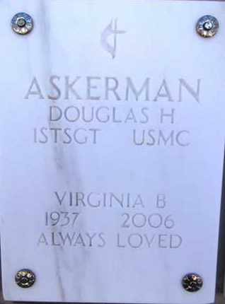 ASKERMAN, DOUGLAS H. - Yavapai County, Arizona | DOUGLAS H. ASKERMAN - Arizona Gravestone Photos
