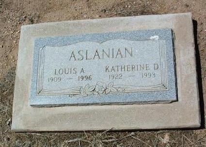 HERBERT ASLANIAN, K. D. - Yavapai County, Arizona | K. D. HERBERT ASLANIAN - Arizona Gravestone Photos