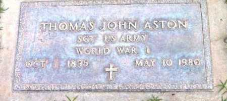 ASTON, THOMAS JOHN - Yavapai County, Arizona | THOMAS JOHN ASTON - Arizona Gravestone Photos