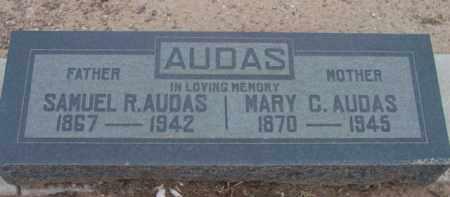 FANNIN AUDAS, MARY CLARA - Yavapai County, Arizona | MARY CLARA FANNIN AUDAS - Arizona Gravestone Photos