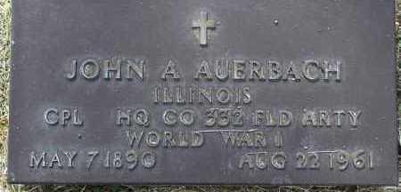 AUERBACH, JOHN ARTHUR - Yavapai County, Arizona | JOHN ARTHUR AUERBACH - Arizona Gravestone Photos
