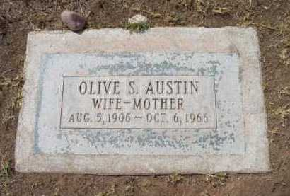 AUSTIN, OLIVE S. - Yavapai County, Arizona | OLIVE S. AUSTIN - Arizona Gravestone Photos