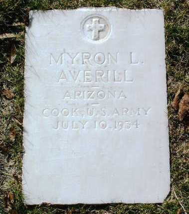AVERILL, MYRON L. - Yavapai County, Arizona | MYRON L. AVERILL - Arizona Gravestone Photos