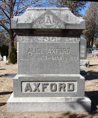 AXFORD, ALICE - Yavapai County, Arizona | ALICE AXFORD - Arizona Gravestone Photos