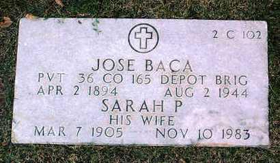 PERIA BACA, SARAH P. - Yavapai County, Arizona | SARAH P. PERIA BACA - Arizona Gravestone Photos