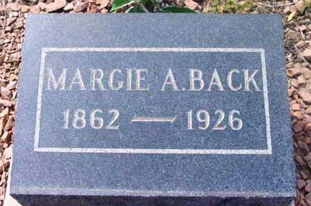 BACK, MARJORIE ANNE - Yavapai County, Arizona | MARJORIE ANNE BACK - Arizona Gravestone Photos