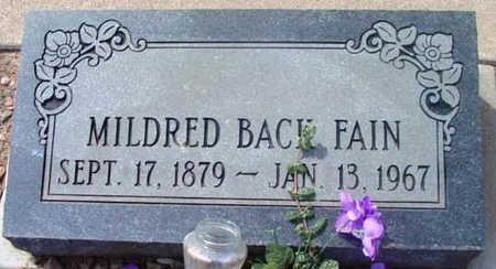 FAIN, MILDRED - Yavapai County, Arizona | MILDRED FAIN - Arizona Gravestone Photos