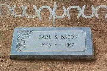 BACON, CARL S. - Yavapai County, Arizona | CARL S. BACON - Arizona Gravestone Photos