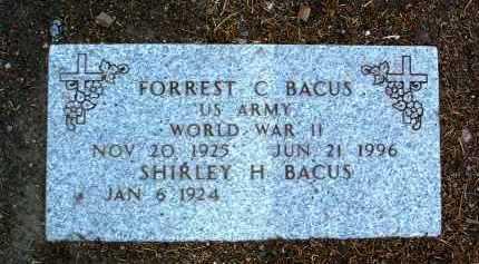 BACUS, FORREST CLINTON - Yavapai County, Arizona   FORREST CLINTON BACUS - Arizona Gravestone Photos