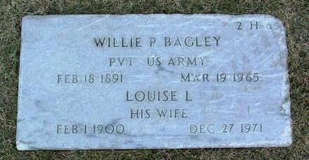BAGLEY, WILLIE  P. - Yavapai County, Arizona | WILLIE  P. BAGLEY - Arizona Gravestone Photos