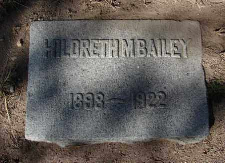 BAILEY, HILDRETH M. - Yavapai County, Arizona | HILDRETH M. BAILEY - Arizona Gravestone Photos