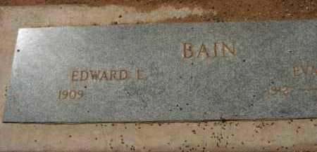 BAIN, EDWARD L. - Yavapai County, Arizona | EDWARD L. BAIN - Arizona Gravestone Photos