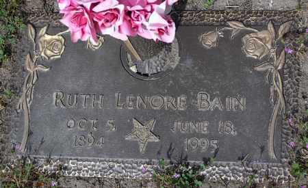 BAIN, RUTH LENORE - Yavapai County, Arizona   RUTH LENORE BAIN - Arizona Gravestone Photos