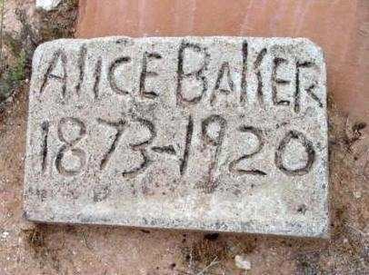 BAKER, ALICE - Yavapai County, Arizona | ALICE BAKER - Arizona Gravestone Photos