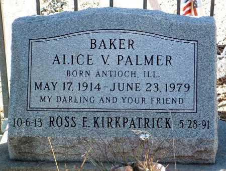 BAKER, ALICE V. - Yavapai County, Arizona | ALICE V. BAKER - Arizona Gravestone Photos
