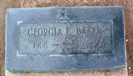 BROWN BAKER, GEORGIA E. - Yavapai County, Arizona | GEORGIA E. BROWN BAKER - Arizona Gravestone Photos