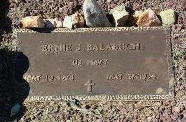 BALABUCH, ERNIE J. - Yavapai County, Arizona   ERNIE J. BALABUCH - Arizona Gravestone Photos