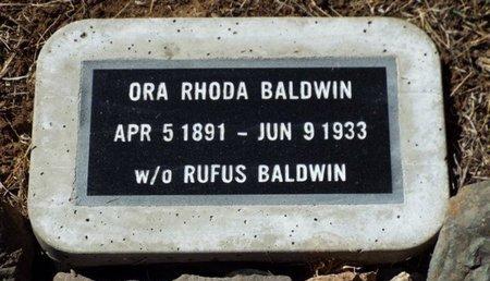 DAVIS BALDWIN, ORA RHODA - Yavapai County, Arizona | ORA RHODA DAVIS BALDWIN - Arizona Gravestone Photos