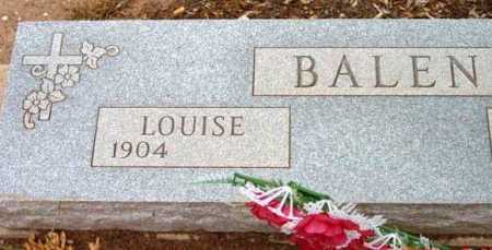 BALEN, LOUISE - Yavapai County, Arizona | LOUISE BALEN - Arizona Gravestone Photos