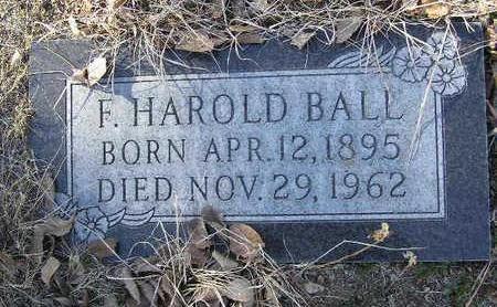 BALL, F.  HAROLD - Yavapai County, Arizona | F.  HAROLD BALL - Arizona Gravestone Photos