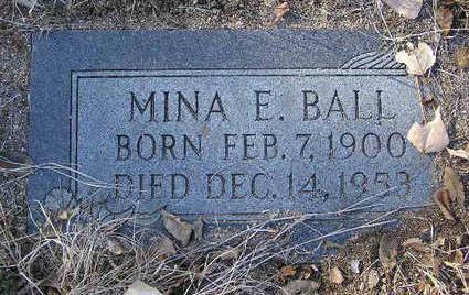 BALL, MINA EDNA - Yavapai County, Arizona | MINA EDNA BALL - Arizona Gravestone Photos