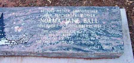 BALL, NORMA JANE - Yavapai County, Arizona | NORMA JANE BALL - Arizona Gravestone Photos