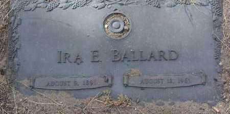BALLARD, IRA E. - Yavapai County, Arizona   IRA E. BALLARD - Arizona Gravestone Photos