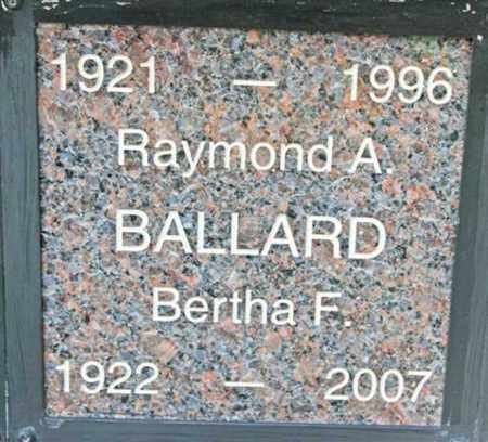 BALLARD, BERTHA F. - Yavapai County, Arizona | BERTHA F. BALLARD - Arizona Gravestone Photos