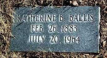 BALLIS, KATHERINE B. - Yavapai County, Arizona   KATHERINE B. BALLIS - Arizona Gravestone Photos