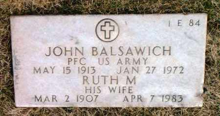 BALSAWICH, RUTH M. - Yavapai County, Arizona | RUTH M. BALSAWICH - Arizona Gravestone Photos