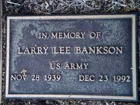 BANKSON, LARRY LEE - Yavapai County, Arizona | LARRY LEE BANKSON - Arizona Gravestone Photos
