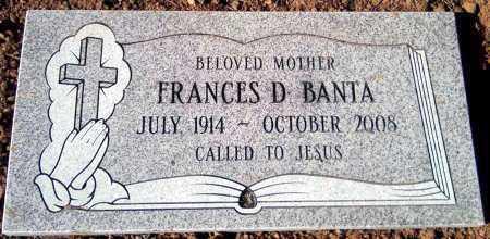BANTA, FRANCES D. - Yavapai County, Arizona | FRANCES D. BANTA - Arizona Gravestone Photos