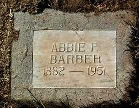 BARBER, ABBIE JANE - Yavapai County, Arizona | ABBIE JANE BARBER - Arizona Gravestone Photos