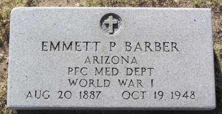 BARBER, EMMETT P. - Yavapai County, Arizona   EMMETT P. BARBER - Arizona Gravestone Photos