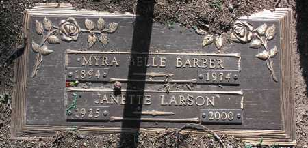 BARBER, MYRA BELLE - Yavapai County, Arizona | MYRA BELLE BARBER - Arizona Gravestone Photos