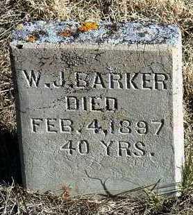BARKER, W. J. - Yavapai County, Arizona | W. J. BARKER - Arizona Gravestone Photos
