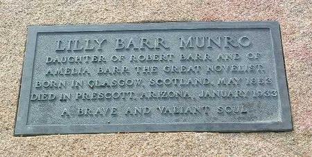 BARR MUNRO, LILLIAN (LILLY) - Yavapai County, Arizona | LILLIAN (LILLY) BARR MUNRO - Arizona Gravestone Photos