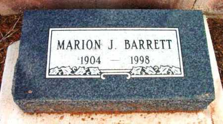 BARRETT, MARION J. - Yavapai County, Arizona | MARION J. BARRETT - Arizona Gravestone Photos