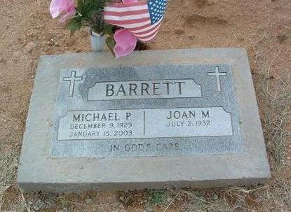 BARRETT, JOAN M. - Yavapai County, Arizona | JOAN M. BARRETT - Arizona Gravestone Photos