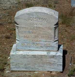 BARRINGTON, JOHN W. - Yavapai County, Arizona   JOHN W. BARRINGTON - Arizona Gravestone Photos
