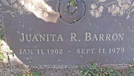 BARRON, JUANITA R. - Yavapai County, Arizona | JUANITA R. BARRON - Arizona Gravestone Photos